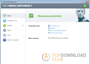 NOD32 Antivirus (64 bit) download screenshot