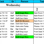 Calendar 50 People to Tasks With Excel 1.28 screenshot