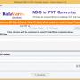 DataVare MSG to PST Converter Expert 1.0 screenshot