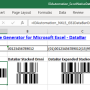 Excel GS1 DataBar Barcode Generator 17.12 screenshot