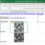 Excel QR Code Barcode Generator 21.10 screenshot