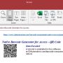 Access QR Code Barcode Generator 21.07 screenshot