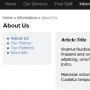 Simple PHP MVC Personal Web Blog 1.0.1 screenshot